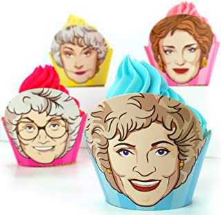 The Golden Girls Cupcake Wrappers (Set of 12) - 3 Rose, 3 Sophia, 3 Blanche & 3 Dorothy | Golden Girls party supplies and ...