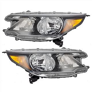 Pair Set Halogen Combination Headlights Headlamps Replacement for Honda CR-V 33150-T0A-A01 33100-T0A-A01 AutoAndArt