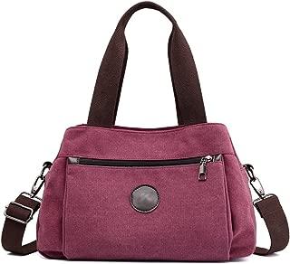 Women's Casual Totes Bag Shoulder Bag Canvas Handbags 3-open Crossbody Bag Messenger Bag
