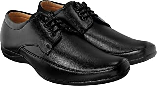 Blinder Black Formal Shoes Lace Derby Flat Sole Shoes for Men On Amazon.in