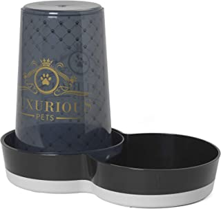 Moderna Luxurious Pets Tasty Jumbo - Pet Food or Water Dispenser 37.5 x 20.7 x H28.6 cm, Black