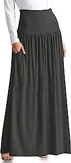تنانير ريج وبحجم إضافي للنساء طويلة الطول مع جيوب تغطية الشاطئ ، ليلة ، مكتب كاجوال ، حزب