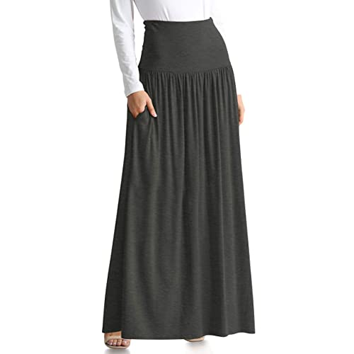 8bdc90c17eb Womens Long Maxi Skirt with Pockets Reg and Plus Size - Made in The USA
