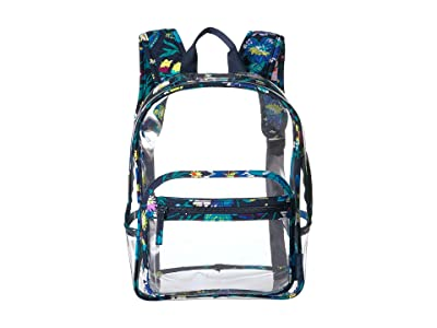 Vera Bradley Clearly Colorful Stadium Backpack (Moonlight Garden) Backpack Bags