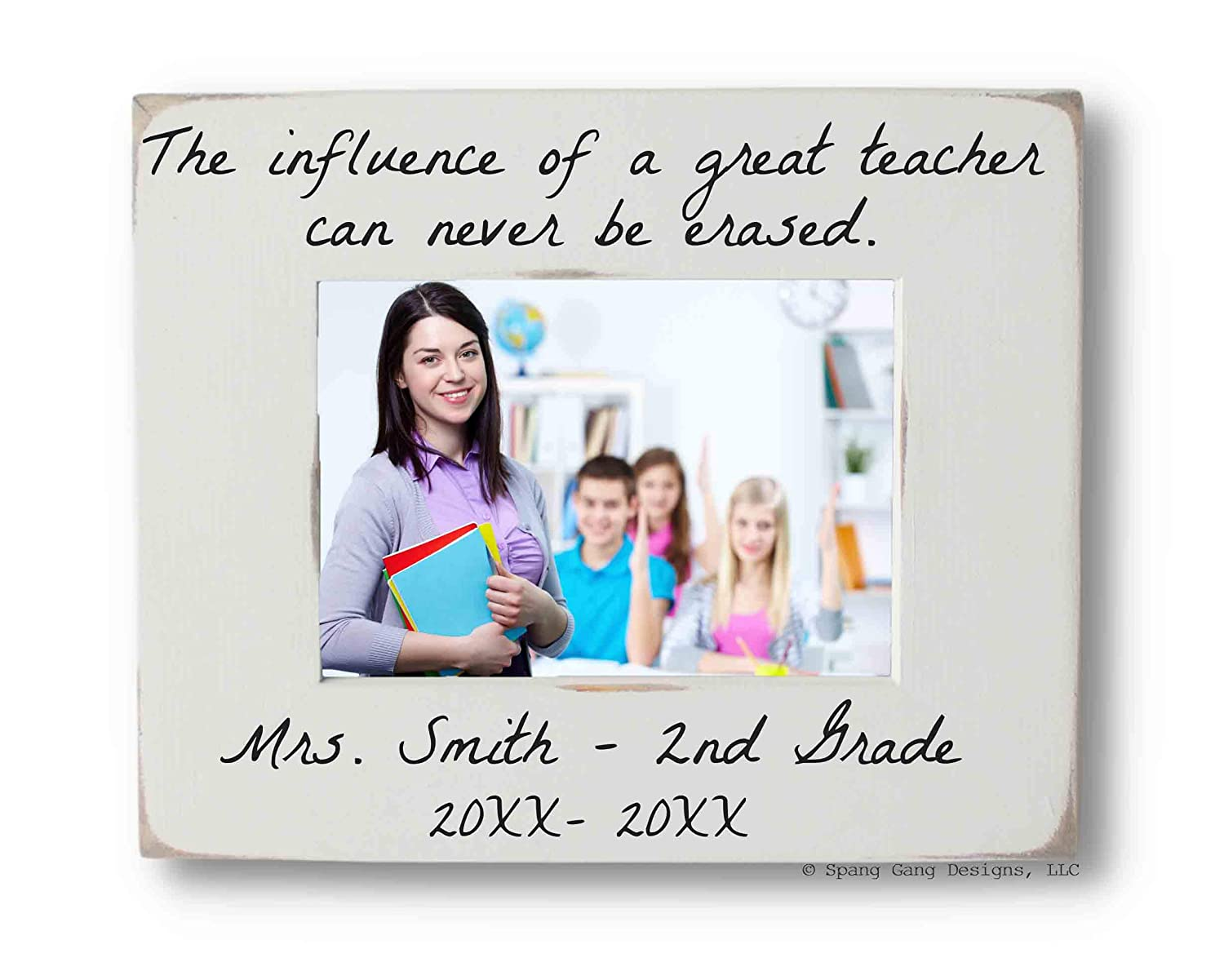 Personalized Lowest price challenge Picture Frame for Teacher fits or Max 52% OFF s 5x7 4x6 photo