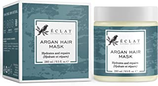 Argan Oil Hair Mask by Eclat - Intensive Deep Conditioning Mask with Vitamin E + Coconut Oil - For Dry Damaged Hair - All Natural