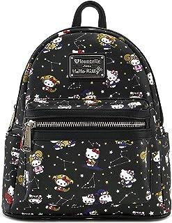 Hello Kitty Zodiac Print Mini Backpack (One_Size, Black)