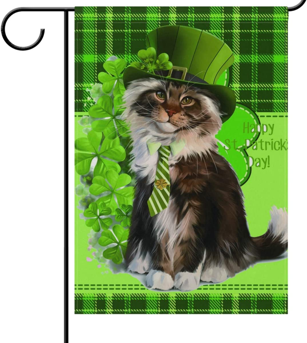 """PATRICK/'S DAY WELCOME SHAMROCK  IRISH 12/""""x18/"""" GARDEN FLAG BANNER FM51 SAINT ST"""