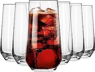 KROSNO Tall Water Juice Drinking Gl | Set of 6 | 16.2 oz | Splendour Collection | Hiball & Tumbler Crystal Glass | Perfect...
