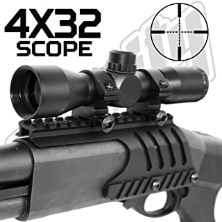 Trinity Remington 870 Pump Scope with Mount Picatinny Weaver Hunting Optics Base Aluminum Black Single Rail Mount.