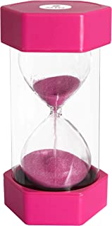 Playlearn Sand timer hour glass for kids, teachers, therapists, classroom, office desk, kitchen, decoration, sensory room. 2 minute hourglass timers. Pink. Large size