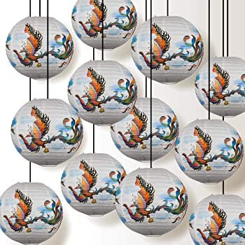 Quasimoon Paperlanternstore.com 5 Pack 14 Inch Frosty Snowman Christmas Holiday Paper Lantern Hanging Party Decoration Combo Set