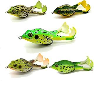 """15PCS Soft Silicone Fishing Lure Wobblers Bass Soft Frog Bait 3.15/""""-8cm//3.5g"""