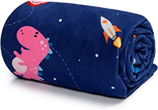 TILLYOU Soft Silky Minky Baby Blanket for Boys, Sensory Bedding Blanket with Dotted Backing, Fleece Plush Blanket for Nurs...