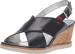 Women's Leather Made in Brazil Criss Cross Wedge Sandal