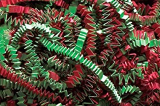 Crinkle Cut Paper Shred Filler (1/2 LB) for Gift Wrapping & Basket Filling - Christmas Mix   MagicWater Supply
