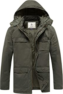 Men's Windbreaker Insulated Cotton Quilted Casual Winter Jacket