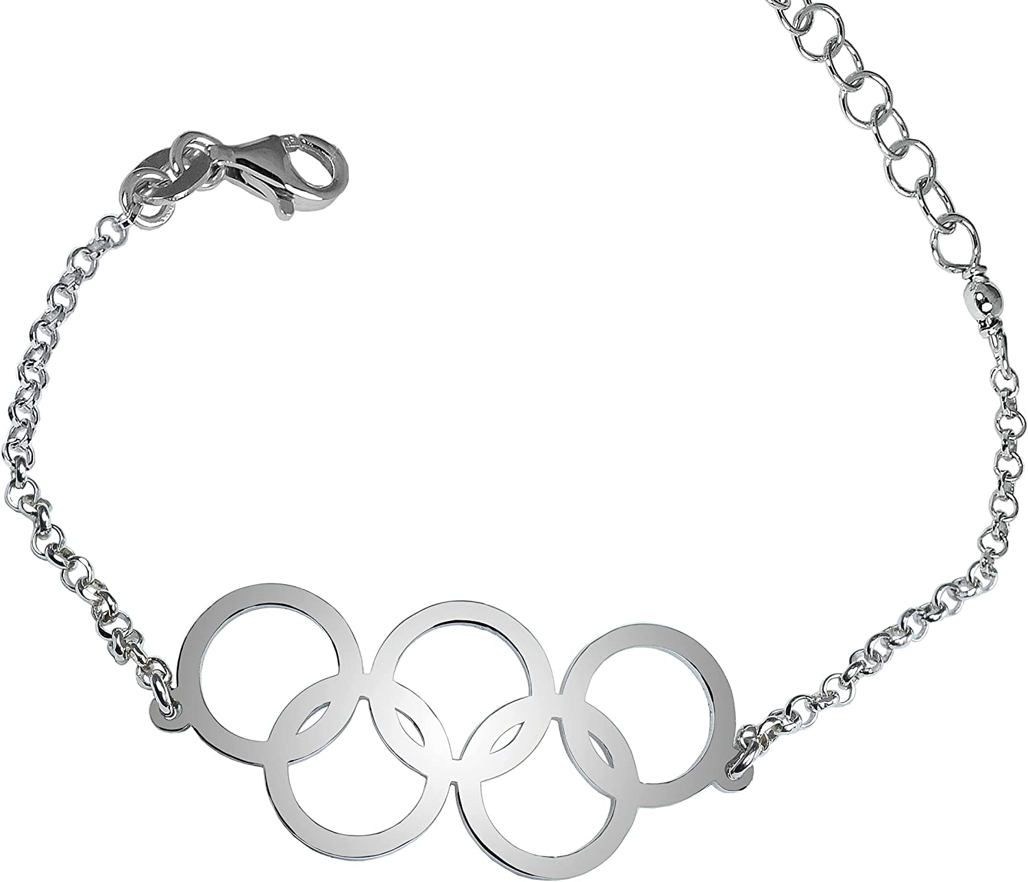 Olympic Rings - bracelet for solid women f Max 69% OFF Max 68% OFF silver 925