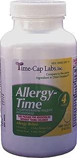 Allergy-Time Chlorpheniramine Maleate 4mgGeneric for Chlor-Trimeton Allergy 1000 Tablets per Bottle