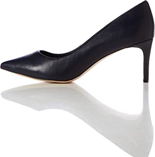 Amazon Brand - find. Women's Mid Heel Leather Pumps