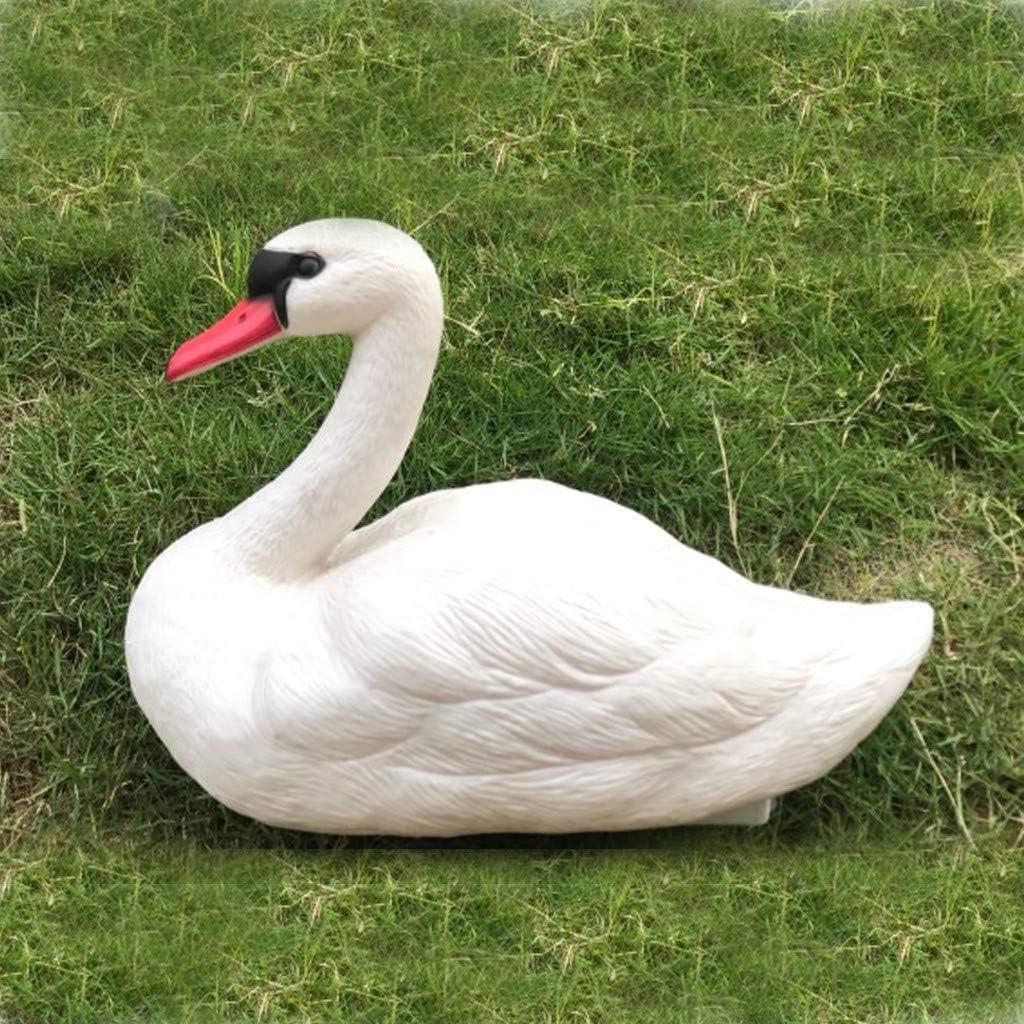 2pc Life Size Swan Decoy Pond Decoration Plastic Floating Ornamental Bird