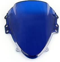 Artudatech Parabrisas de motocicleta de doble burbuja para S U Z U K I GSXR 600//750 2004-2005 K4