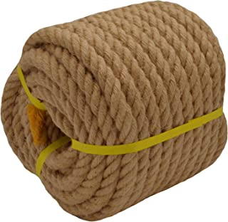 Twisted Manila Rope Jute Rope (3/4 in x 100 ft) Natural Thick Hemp Rope for Crafts, Nautical, Landscaping, Decorations, Hanging Swing