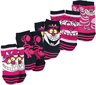 Alicia en el País de Las Maravillas Gato Chesire Calcetines Rosa/Negro