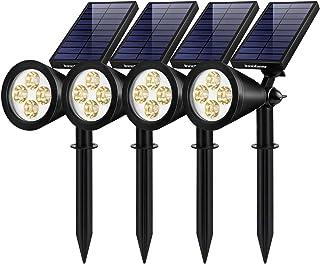 InnoGear Upgraded Solar Lights 2-in-1 Waterproof Outdoor Landscape Lighting Spotlight Wall Light Auto On/Off for Yard Gard...