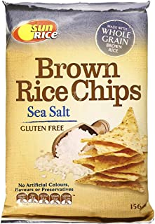 Sunrice Brown Rice Chips Sea Salt Gluten Free 156g