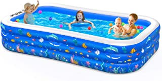 """Inflatable Swimming Pool, 120"""" X 72"""" X 22"""" Inflatable Kiddie Pool, Full-Sized Family Lounge Pool for Kiddie, Kids, Adults,..."""