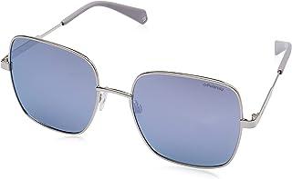 نظارات شمسية بشكل مربع وعدسات مستقطبة للنساء من بولارويد باطار فضي/ رمادي 6060/S