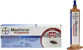 2 Tubes Maxforce FC Magnum Cockroach German Roach Pest Control Gel Bait 33 gram per tube w/ 1 Plunger ~~ 5 Times Stronger then Regular Maxforce FC Roach Gel ~~ Mata Cucarachas! THE NEW MAGNUM PACKAGED IN BLUE