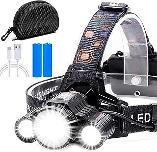 Cobiz Headlamp Flashlight USB Rechargeable - LED Brightest High 6000 Lumen Work Headlight,18650 Waterproof Flashlight with...