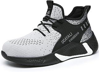 UCAYALI Zapatos de Seguridad Ligero Transpirable Zapatillas de Trabajo con Punta de Acero para Hombre Mujer Gr.39-48