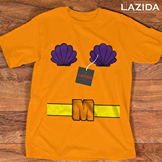 LAZIDA Mermaid Man Halloween Costume Funny Merman Customized Handmade T-Shirt Hoodie/Long Sleeve/Tank Top/Sweatshirt