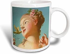 لوحة فنية عتيقة من 3dRose InspirationzStore - Jeune fille delivrant un oiseau de sa cage - تفصيل وجه المرأة الشابة - بواسطة Jean-Honore Fragonard - مج, 11 oz