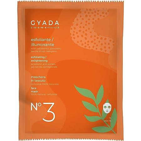 Gyada Cosmetics MASCHERA IN TESSUTO N. 3 ESFOLIANTE/ILLUMINANTE ● CERTIFICATA BIO ● MADE IN ITALY ● 15 ml