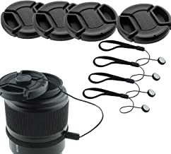 Honbay Lens Cap Bundle,Honbay 4 Snap-on Lens Covers for DSLR Cameras Including Nikon, Canon, Sony - Lens Cap Keepers Included