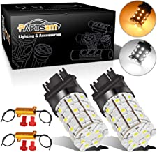 Partsam 2X 3157 Switchback LED Bulbs Front Turn Signal Light Bulbs Dual Color White Amber Blinker Light 60-SMD + Load Resistors 3157A 3357A 3457A 4157NA 3757A 3057A 3057 Standard Type (NOT CK)
