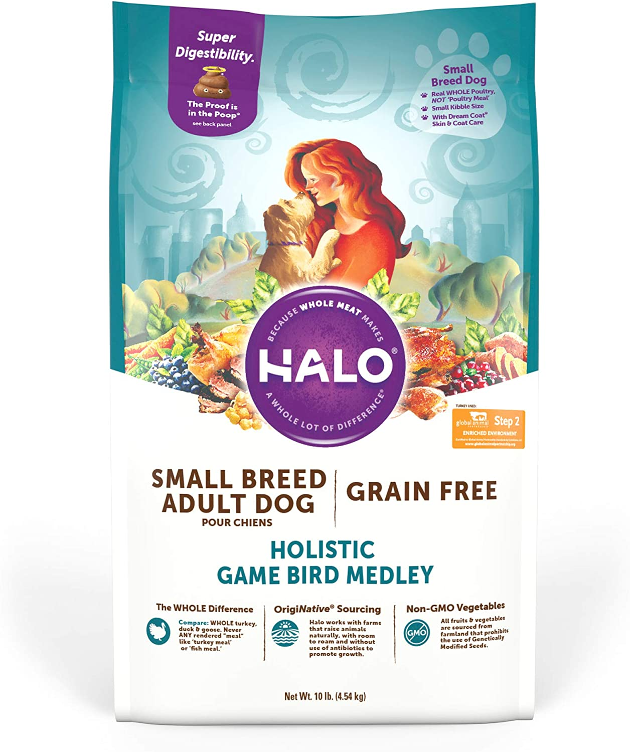 Halo Natural Long-awaited 2021new shipping free shipping Dry Dog Food Small Breed Meat Prem Non-GMO Whole