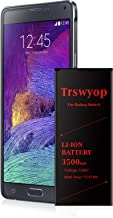 Note 4 Battery, Trswyop 3500mAh Li-Ion Battery Replacement for Samsung Galaxy Note 4 [N910, N910U LTE, AT&T N910A, Verizon N910V, Sprint N910P, T-Mobile N910T] Note 4 Spare Battery[24 Month Warranty]