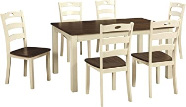 Signature Design by Ashley Dining Table, Woodanville 7-piece Set White