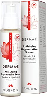DERMA-E Anti-Wrinkle Night Serum with Vitamin A and Vitamin E oz (0486) Green Tea 2 Fl Oz