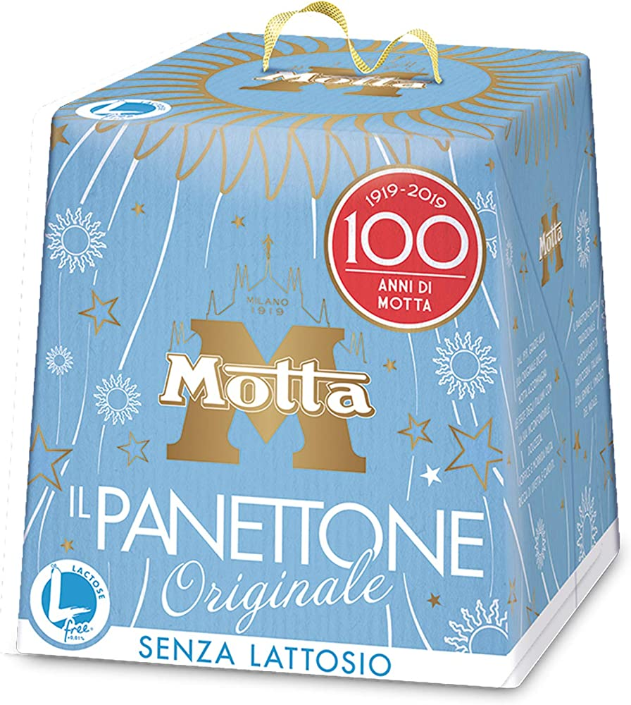 Panettone motta classico 750 gr l`originale senza lattosio canditi uvetta