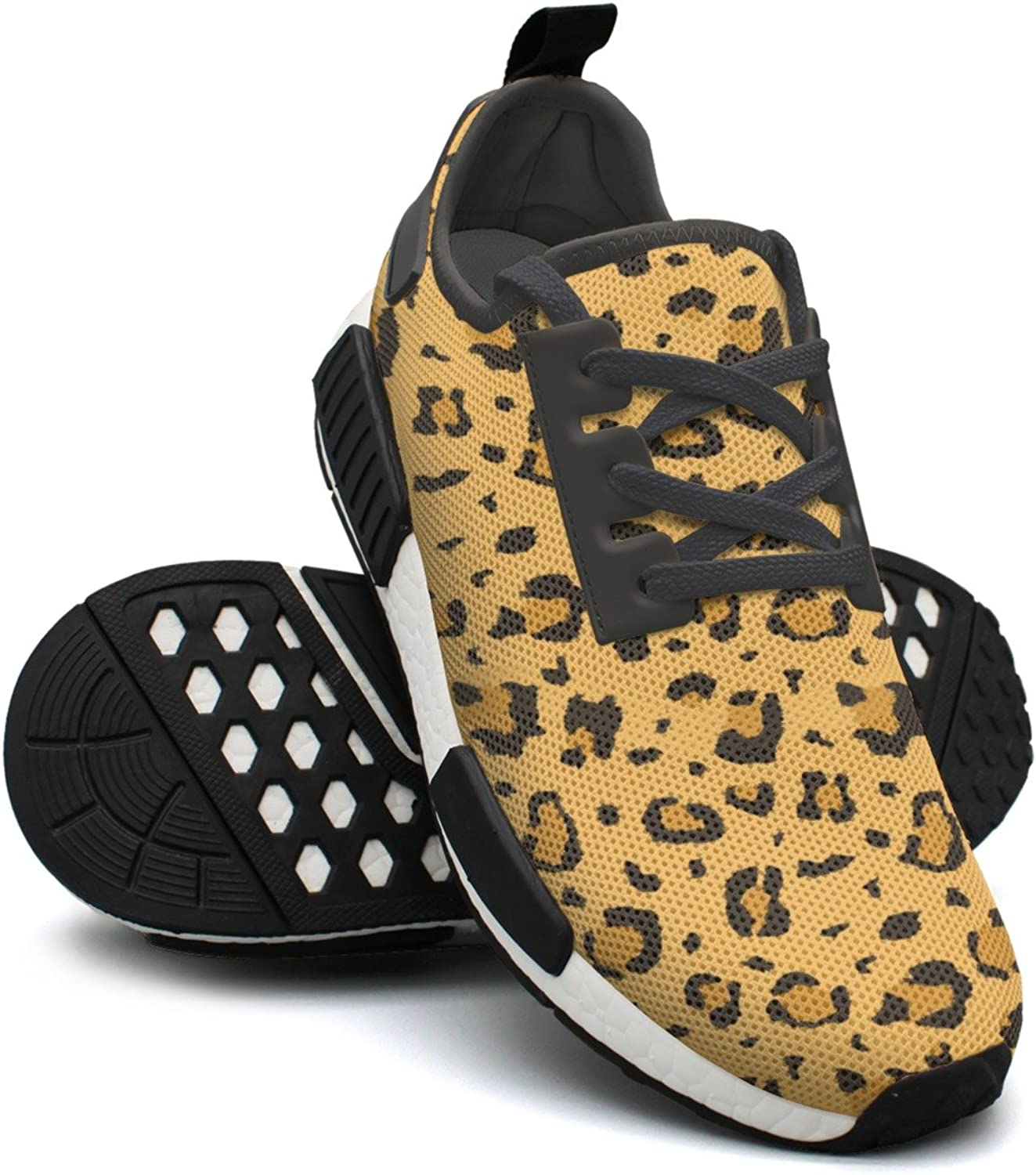 African Cheetah Leopard Fur Jogging shoes For Women Nmd Sports Tennis shoes