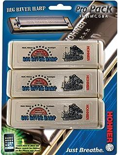 Hohner Big River Harp 3 piece Pro Pack keys of G,A,C