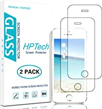 HPTech iPhone SE Screen Protector - (2-Pack) Tempered Glass Film for Apple iPhone SE 5S 5C 5 Screen Protector with Lifetime Replacement Warranty