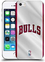 Head Case Designs Oficial NBA Jersey Chicago Bulls Carcasa de Gel de Silicona Compatible con Apple iPhone 5 / iPhone 5s / iPhone SE 2016