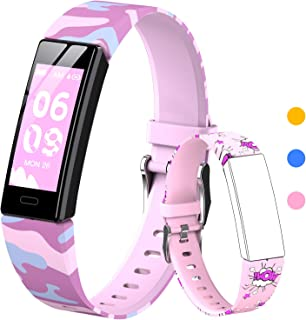 HOFIT Pulsera Actividad Para Niños, Reloj Inteligente con Podómetros, Monitor de Frecuencia Cardíaca y Sueño, Cronómetro, ...